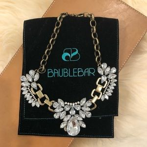 Bauble Bar Crystal and Gold Necklace